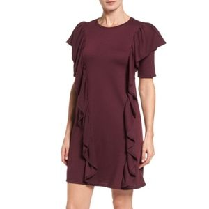 Halogen Ruffle Sweatshirt Dress